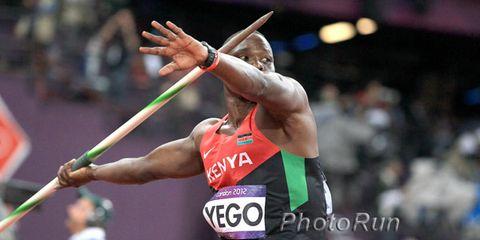 Kenyan javelin thrower Julius Yego