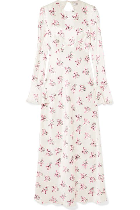 LES RÊVERIES Floral-print silk-satin maxi dress net a porter