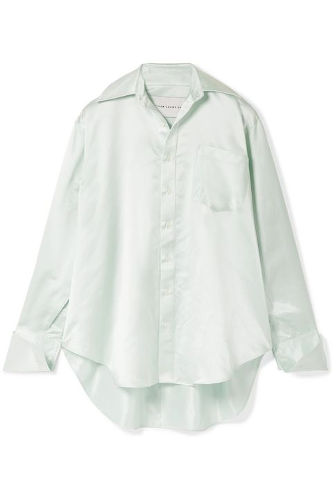 camicia bianca seta