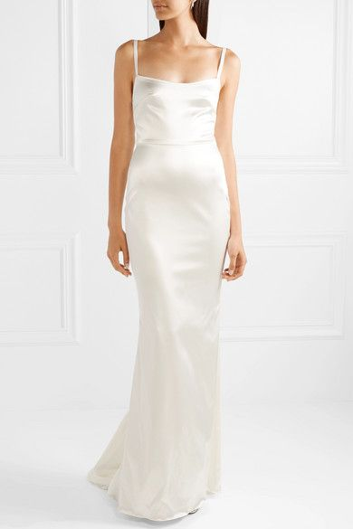 Fishtail wedding dresses - Dolce & Gabbana Fluted cotton-blend corded lace gown