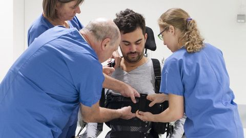 Paralyzed Man Walks | Mind Controlled Exoskeleton