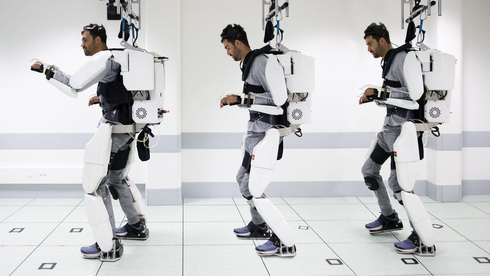Paralyzed Man Walks in Brain-Controlled Exoskeleton