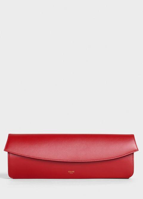 pochette rossa, pochette da sera, pochette Celine, borsa Celine, moda borse 2019