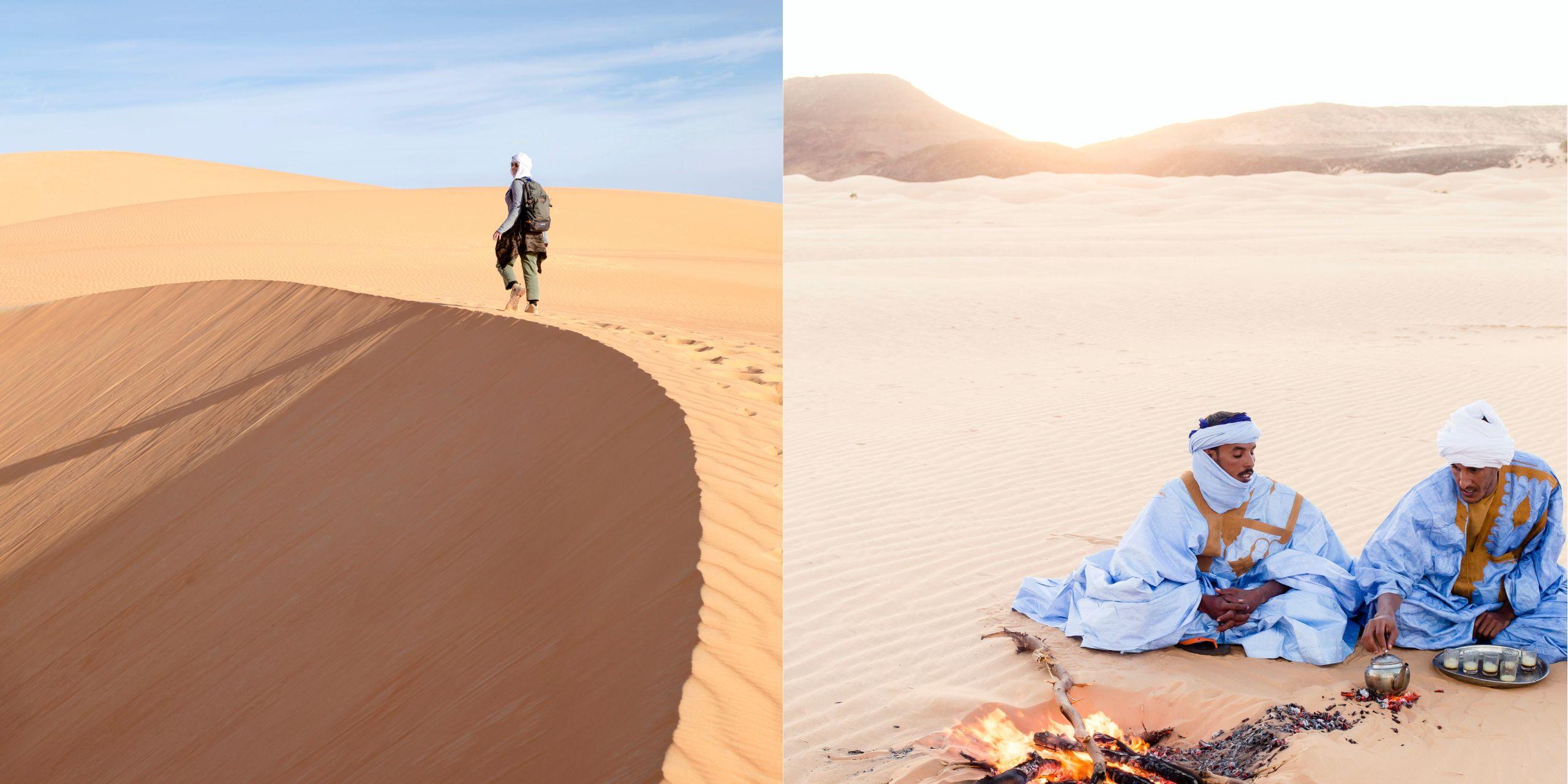 北非茅利塔尼亞,在撒哈拉沙漠流浪