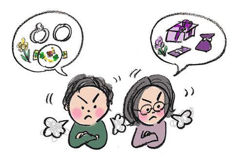 安部トシ子さんの花嫁相談室—第63回「ことごとく彼と意見が合わなくてブルーです」