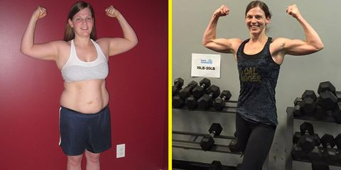 Becky Huff before and after weight loss