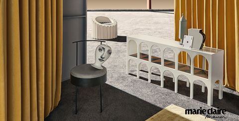 Room, Floor, Furniture, Interior design, Material property, Flooring, Table, Building, Architecture, Chair,