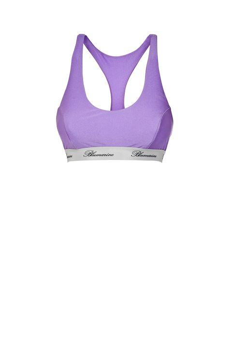 Brassiere, Clothing, Undergarment, Sports bra, Undergarment, Violet, Purple, Lingerie, Swimwear,