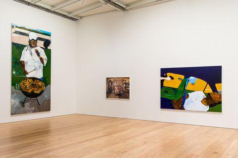 Art gallery, Exhibition, Art exhibition, Art, Visual arts, Modern art, Painting, Tourist attraction, Museum, Room,