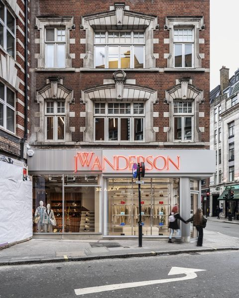 Jonathan Anderson first JW Anderson flagship store London England United Kingdom on the corner of Brewer Street and Wardour Street