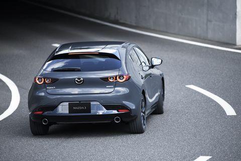 Land vehicle, Vehicle, Car, Automotive design, Mazda, Hatchback, Hot hatch, Mid-size car, Family car, Concept car,