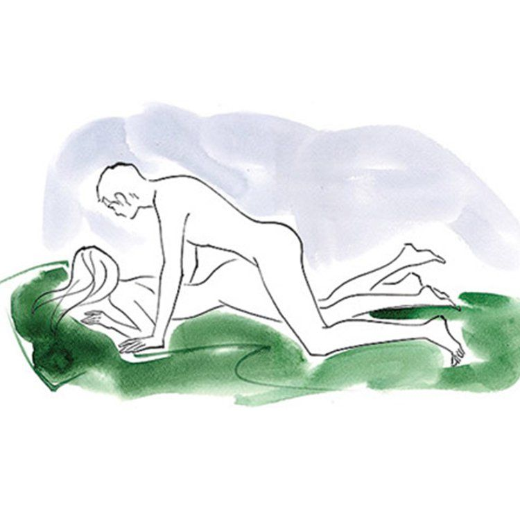 Sex position lying on stomach