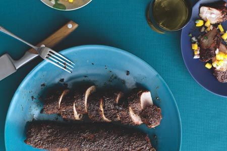 Pork Tenderloin with Cocoa-Nib Crust