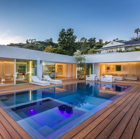Property, House, Swimming pool, Real estate, Home, Building, Architecture, Estate, Backyard, Deck,