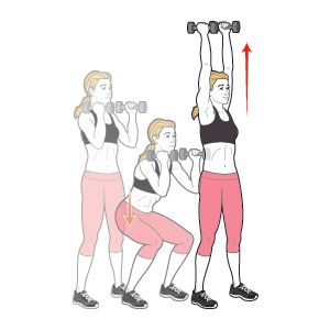 Image result for squat to press