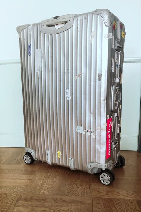 Suitcase, Hand luggage, Baggage, Material property, Luggage and bags, Magenta,
