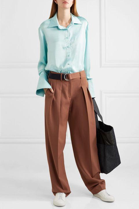 moda pantaloni 2019, pantaloni di tendenza primavera estate 2019, pantaloni a vita alta 2019