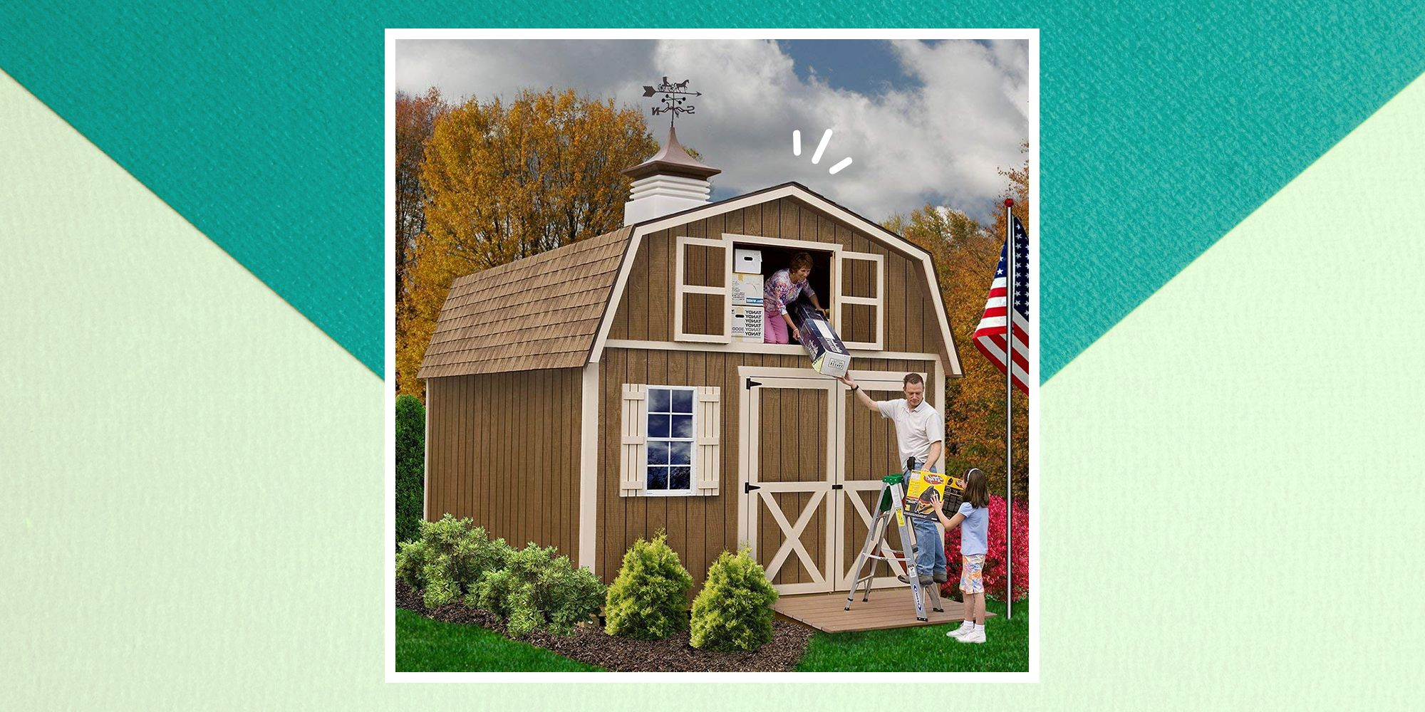 This Tiny House Backyard Barn From Amazon Comes Complete With a 2nd Floor Loft