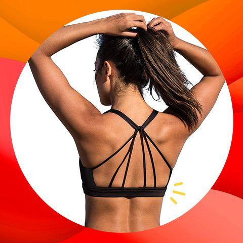 Orange, Shoulder, Red, Arm, Undergarment, Joint, Muscle, Bikini, Back, Lingerie,