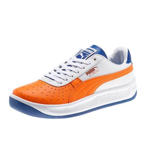 Shoe, Footwear, White, Sneakers, Orange, Blue, Product, Walking shoe, Outdoor shoe, Electric blue,