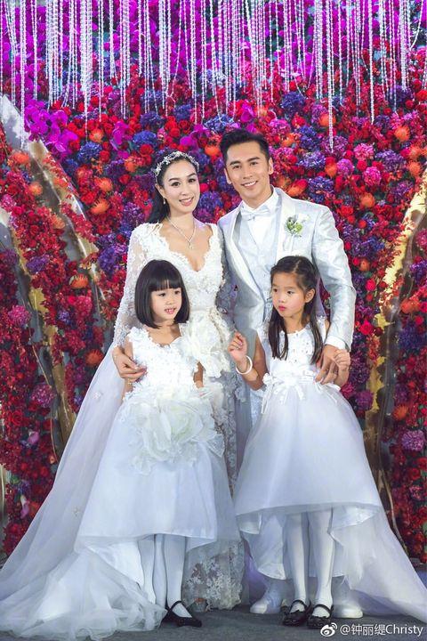 Photograph, Ceremony, Wedding dress, Bride, Dress, Event, Bridal clothing, Pink, Fun, Wedding,