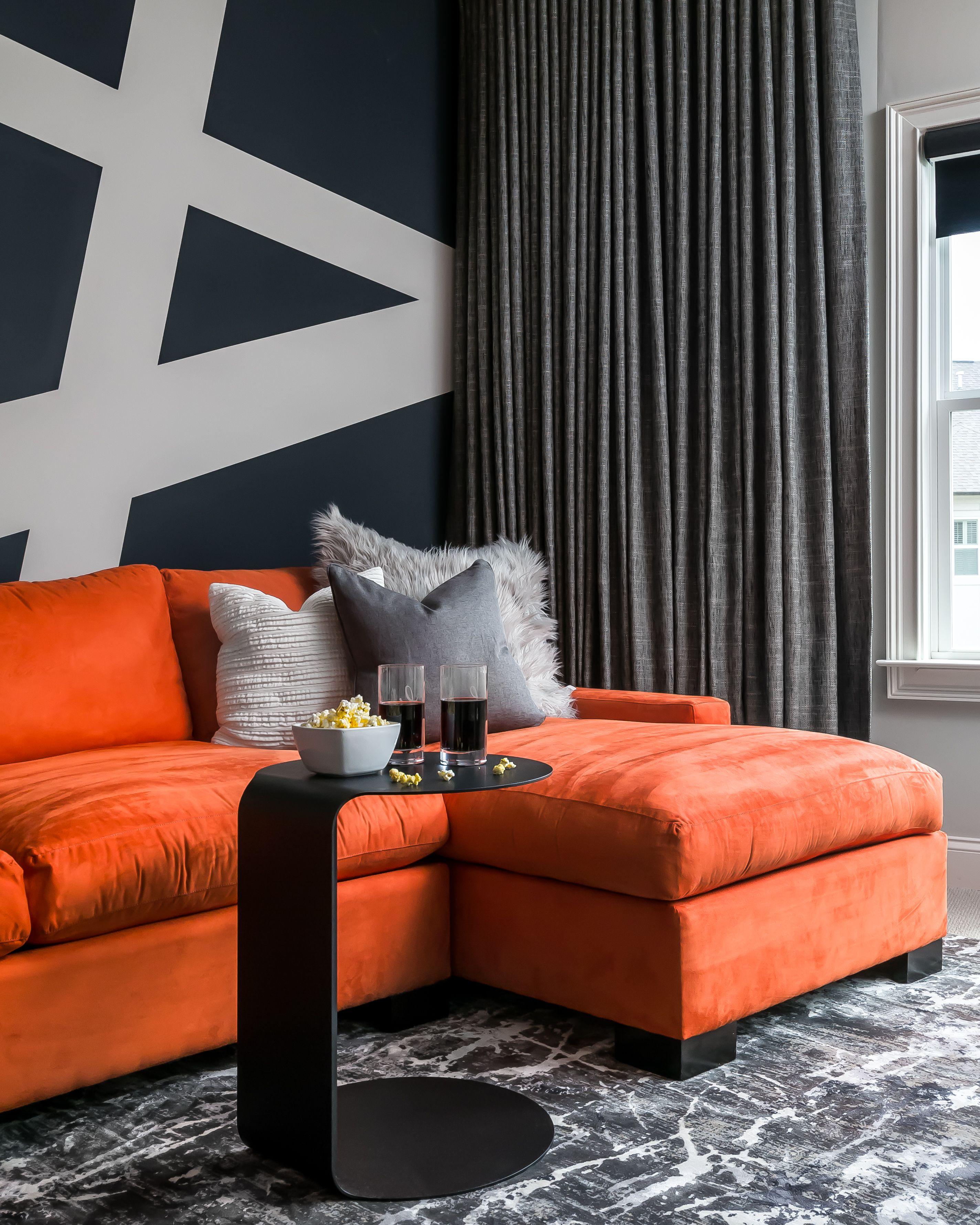 Best Orange Home Decor Tips How To, Burnt Orange Living Room Accessories