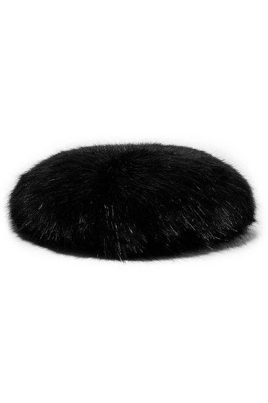 Black, Fur, Cap, Headgear, Beret, Hat, Costume accessory, Fashion accessory,