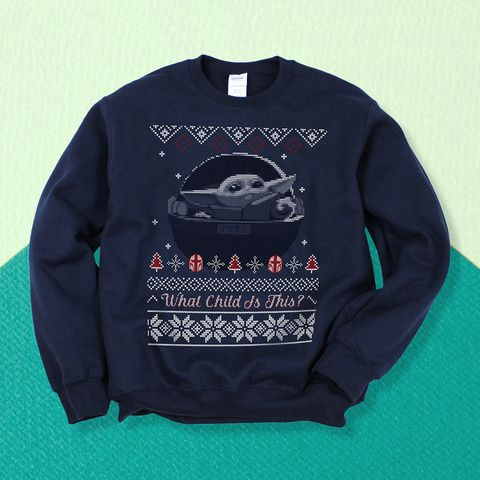 baby yoda ugly christmas sweater mandalorian