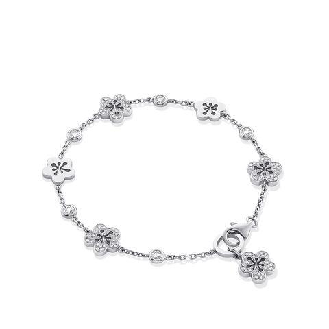 boodles white gold and diamond bracelet