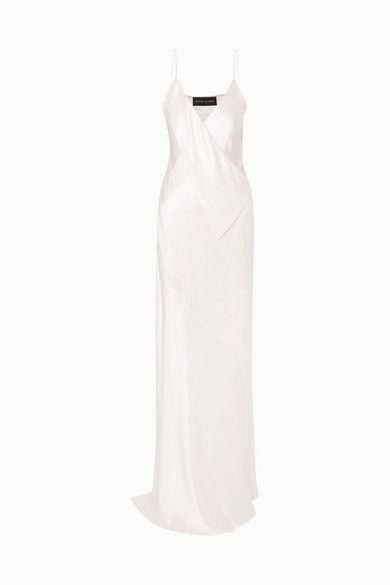 Michael Lo Sordo Silk-satin gown