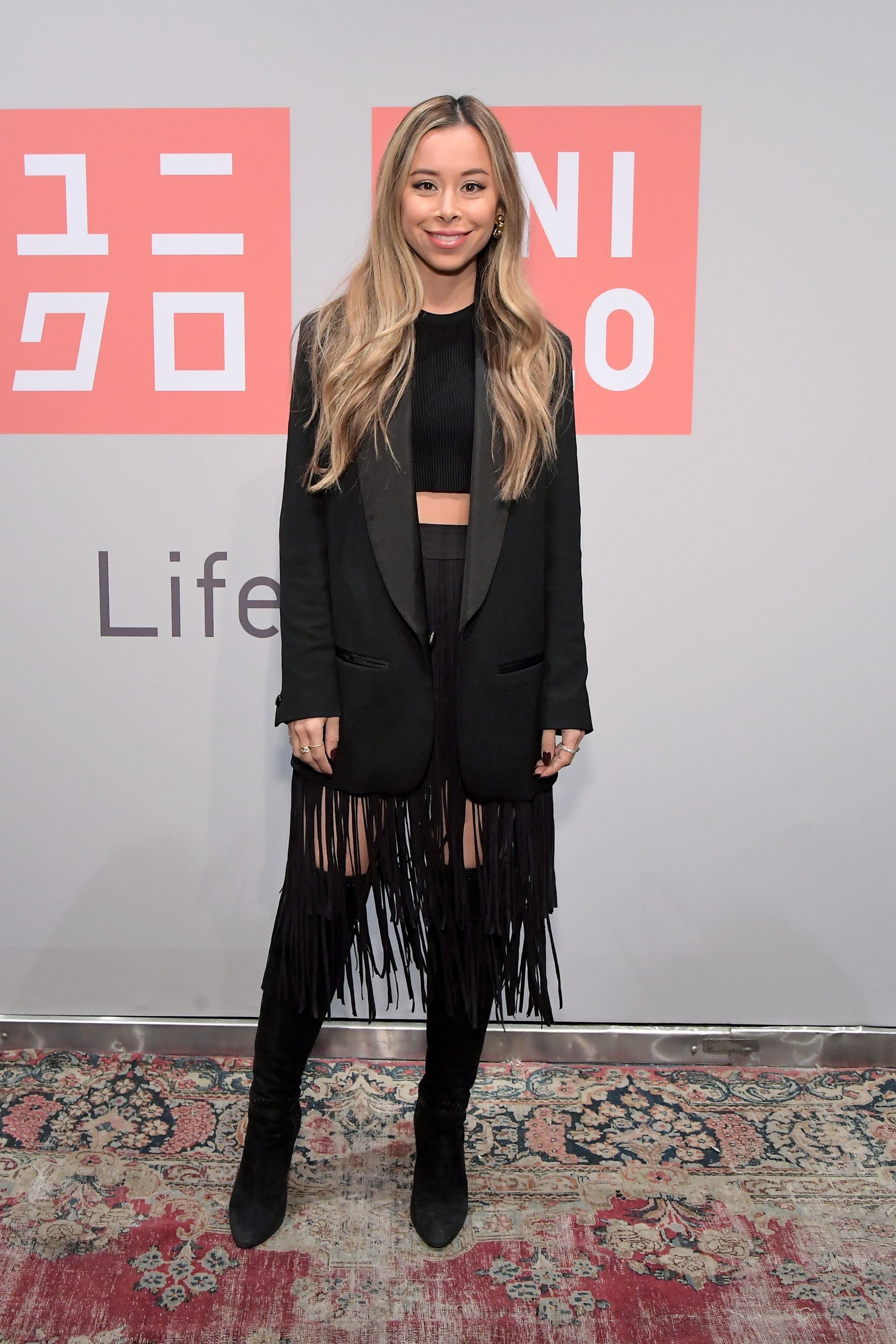 Ashley Weston Ashley Weston attends the UNIQLO 2019 Collections Celebration at Smogshoppe in Los Angeles, California on March 7.