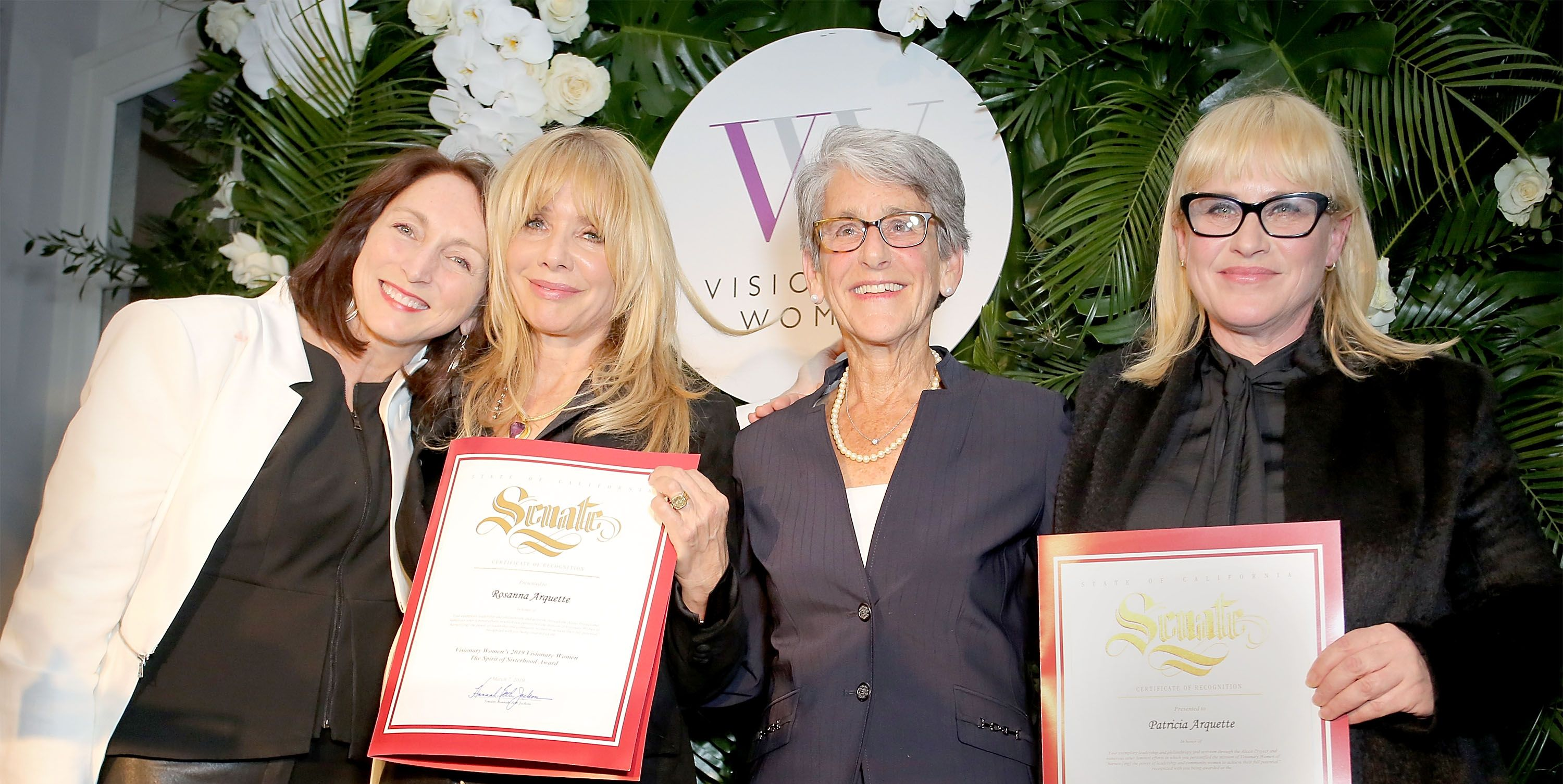 On March 7, in celebration of International Women's Day, Visionary Women honored Patricia and Rosanna Arquette as Sisterhood Visionaries of the Year. Sponsored by Cartier, it was the second annual Visionary Woman Award celebration for the L.A.-based nonprofit, which is dedicated to the empowerment of women and girls.