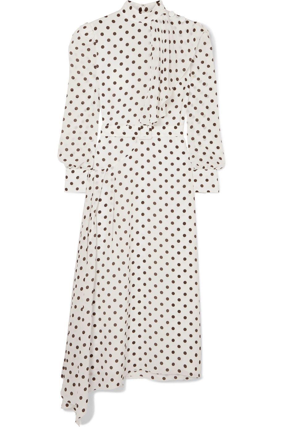 Alessandra Rich polka dot dress net a porter