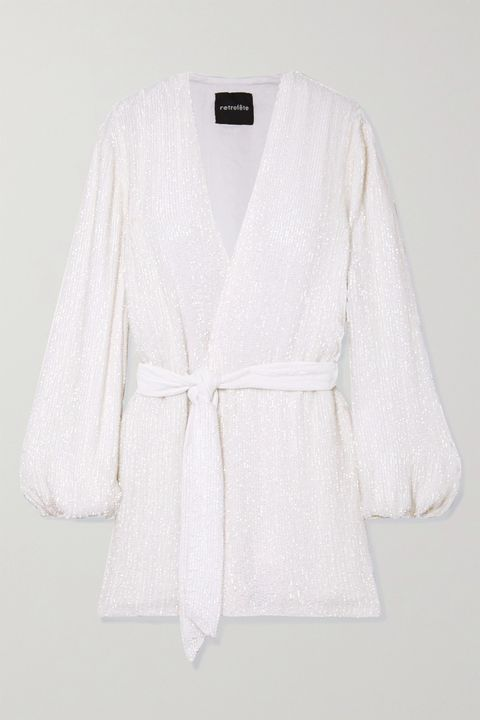Clothing, White, Outerwear, Robe, Sleeve, Cardigan, Top, Sweater, Neck, Jacket,
