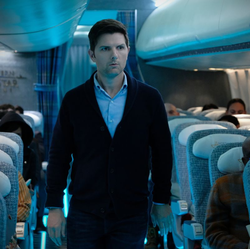 adam scott the twilight zone jordan peele nightmare at 30000 feet