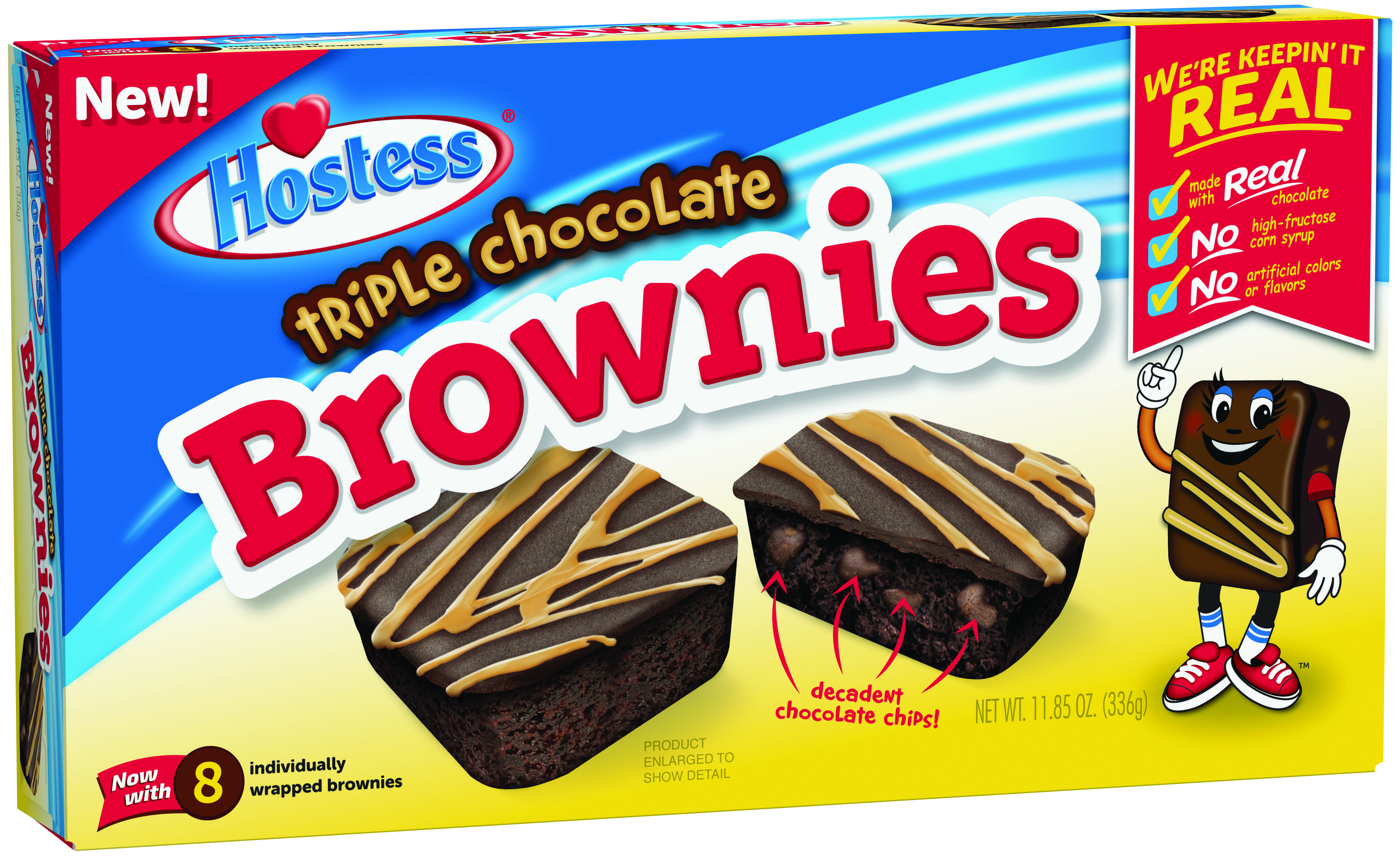 Hostess Is Coming Out With Triple Chocolate Brownies That Are Full Of Chocolate Chips