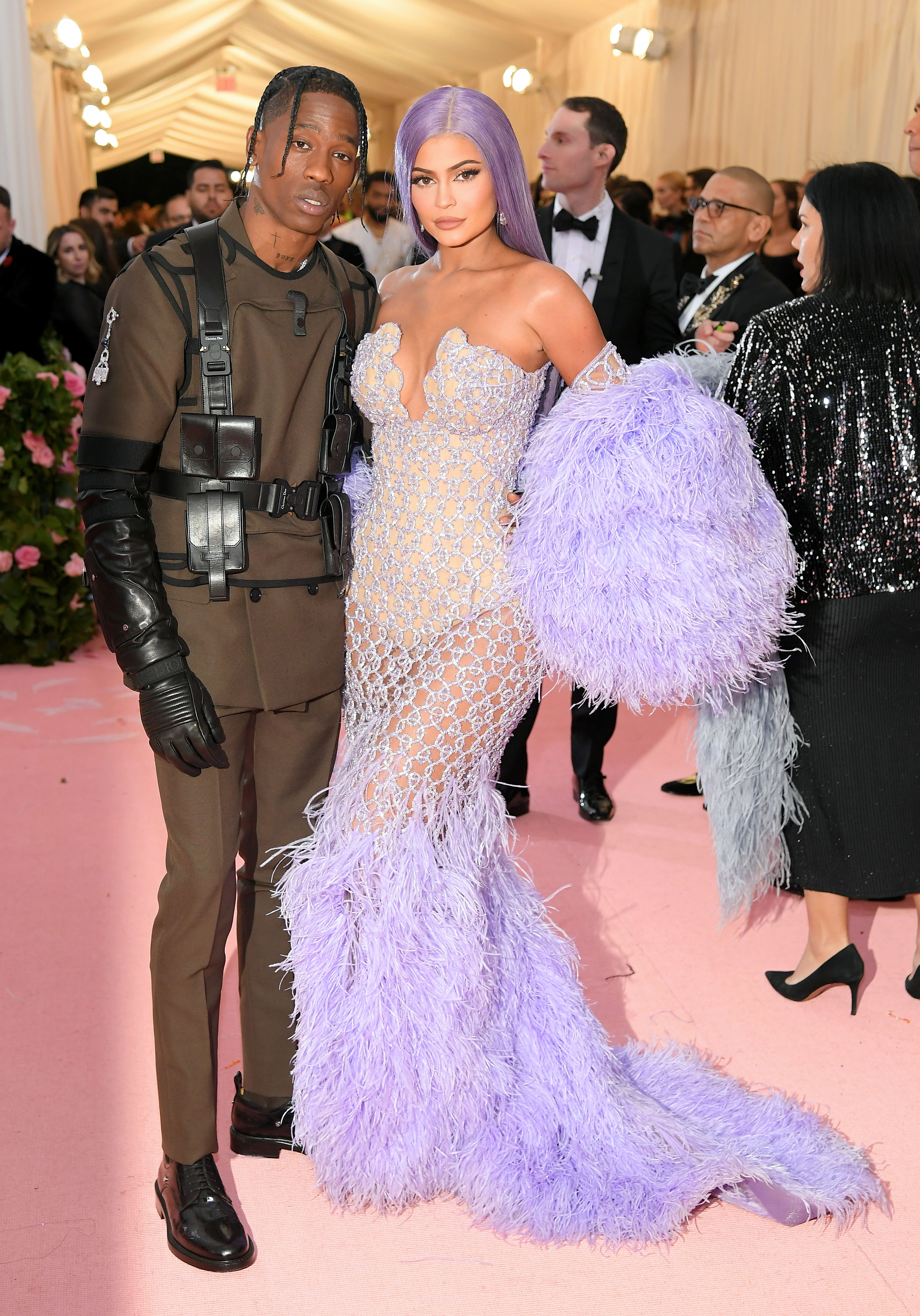 9287d83e8 Kylie Jenner and Travis Scott Show PDA on the Met Gala 2019 Red Carpet
