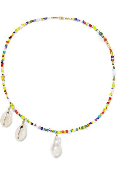 ÉLIOU, Paxi bead, pearl and shell necklace