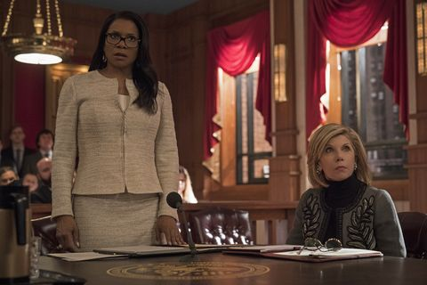 Òthe one about the end of the worldÓ    episode 310    pictured l r audra mcdonald as liz reddick lawrence christine baranski as diane lockhart of the cbs all access series the good fight photo cr elizabeth fishercbs ©2019 cbs interactive, inc all rights reserved