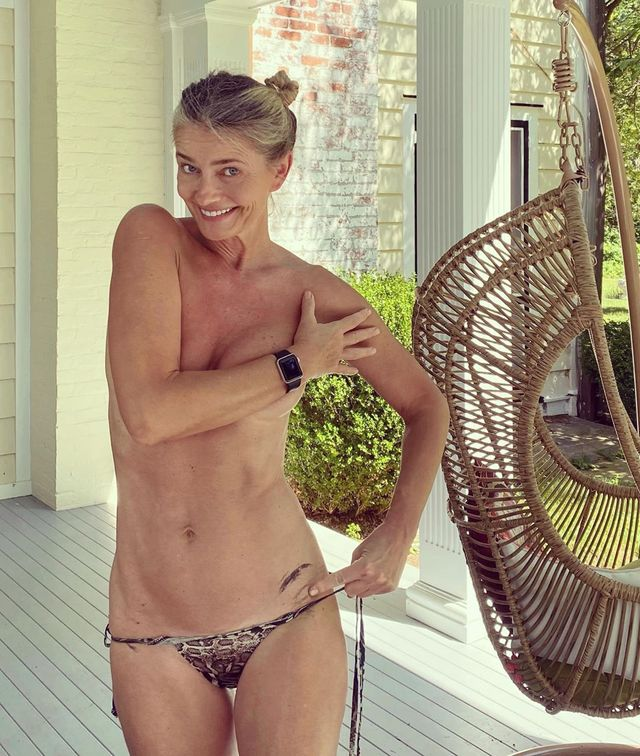 paulina porizkova topless bikini bottoms instagram
