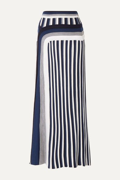 Gabriela Hearst Vasily striped wool midi skirt