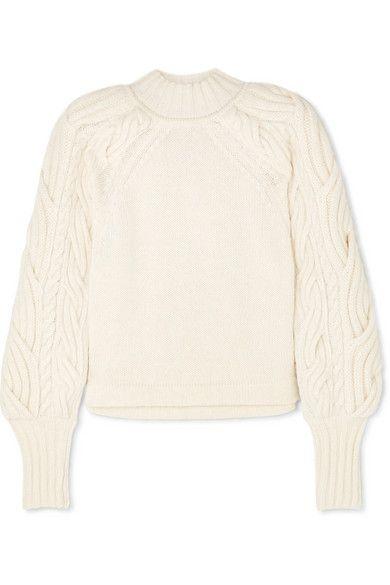 BITE Studios Cable-knit organic cotton-blend sweater