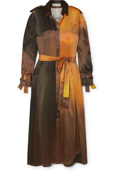 BITE Studios Belted Organic Silk Midi Dress
