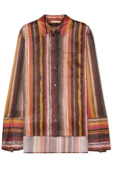 BITE Studios Striped organic silk shirt
