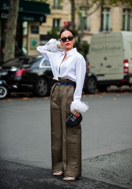 White, Street fashion, Clothing, Fashion, Snapshot, Dress shirt, Standing, Human, Shirt, Street,