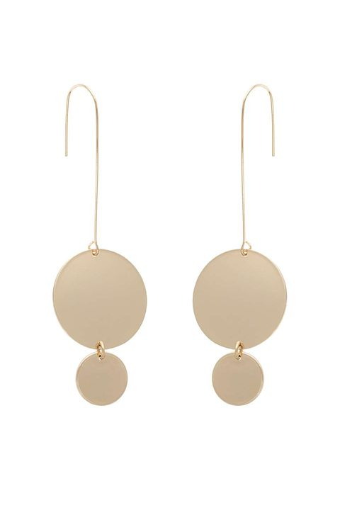 Collins Double Circle Statement Drop Earrings