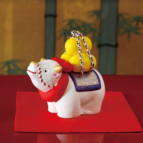 島田耕園人形工房 干支丑和紙貼り「招福牛」 6,500円