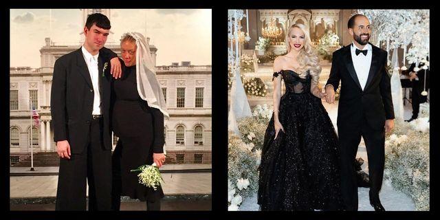 魅力的♡人気セレブが結婚式で着用した「黒のウェディングドレス」集