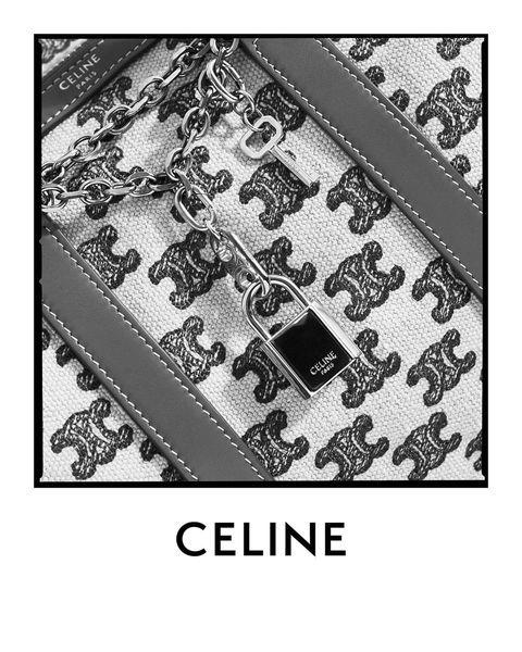 elle 包打聽�celine 把經典包換上 triomphe embroidery 織布印花 blackpink lisa、木村光希 koki 都愛揹