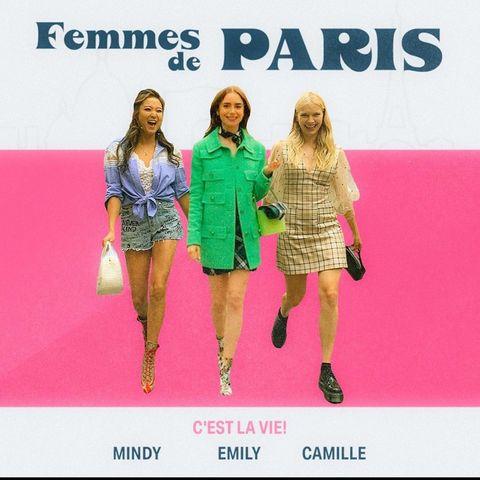 《emily in paris》中的法國女生 camille razat